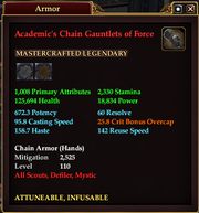 Academic's Chain Gauntlets of Force