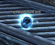 An aluminum orb