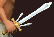 Barbarian's Silver Blade (Equipped)