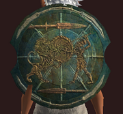 Dawnforged Round Shield (Equipped)