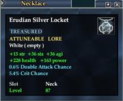 Erudian Silver Locket
