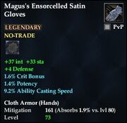 Magus's Ensorcelled Satin Gloves