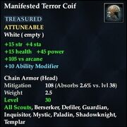 Manifested Terror Coif