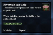 Rivervale keg table