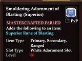 Smoldering Adornment of Blasting (Superior)