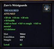 Zorv's Wristguards