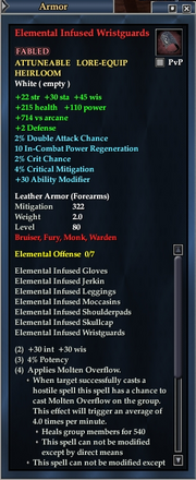 Elemental Infused Wristguards