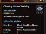 Glowing Gem of Striking