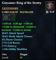 Gossamer Ring of the Sentry