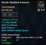 Nexite Studded Greaves