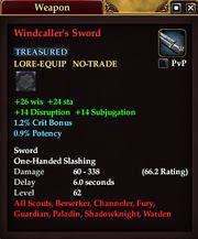 Windcaller's Sword