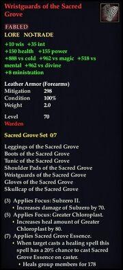 Wristguards of the Sacred Grove