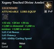 Xegony Touched Divine Armlet
