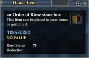 An Order of Rime stone box