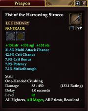Fist of the Harrowing Sirocco