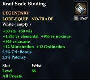 Krait Scale Binding
