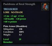 Pauldrons of Feral Strength