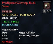 Prodigious Glowing Black Stone