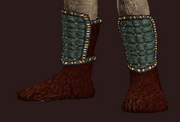 Wanderer's Slippers of the Knight (Equipped)