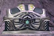 A platinum treasure chest