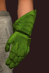 Green Galvanized Paper Plate Mitts (Equipped)