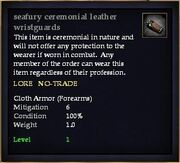 Seafury ceremonial leather wristguards