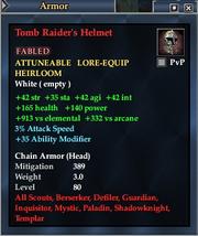 Tomb Raider's Helmet
