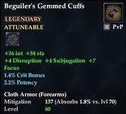 Beguiler's Gemmed Cuffs