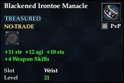 Blackened Irontoe Manacle