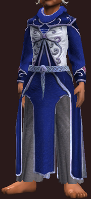 Blue and White Frostfell Robe (Equipped)