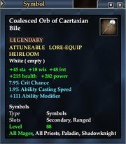 Coalesced Orb of Caertaxian Bile
