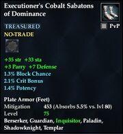 Executioner's Cobalt Sabatons of Dominance