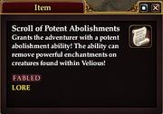 Scroll of Potent Abolishments