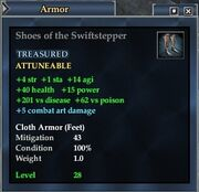 Shoes of the Swiftstepper
