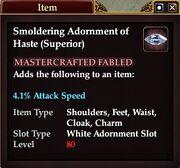 Smoldering Adornment of Haste (Superior)