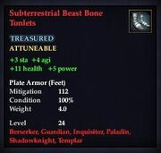 Subterrestrial Beast Bone Tonlets