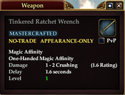 Tinkered Ratchet Wrench