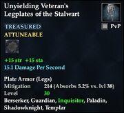 Unyielding Veteran's Legplates of the Stalwart