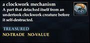 A clockwork mechanism