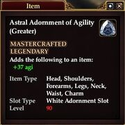 Astral Adornment of Agility (Greater)