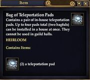 Bag of Teleportation Pads