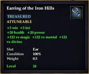 Earring of the Iron Hills
