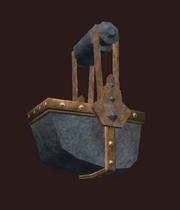 Empty hanging parts bin