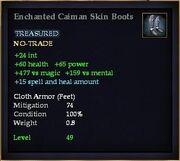 Enchanted Caiman Skin Boots