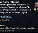 Orc-Snow (Mystic)