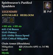 Spiritweaver's Purified Spaulders