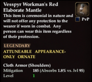 Vesspyr Workmans Red Elaborate Mantle