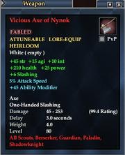 Vicious Axe of Nynok