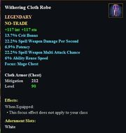 Withering Cloth Robe