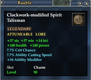 Clockwork-modified Spirit Talisman